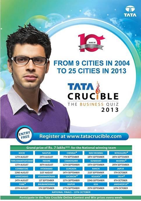 Tata Crucible Corporate Quiz 2013 Schedule