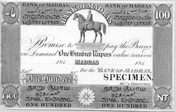 Bank of Madras currency