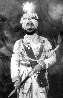 His Highness Bhupinder Singh, co-founder, State Bank of Patiala