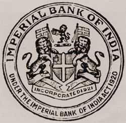 Imperial Bank of India Emblem