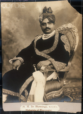 Sir Bhavsinhji Takhtsinhji Bhowsingji, K.C.S.I., Maharaja of Bhavnagar, co-founder,  State Bank of Saurashtra