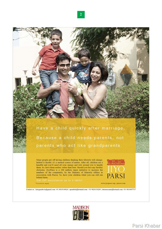 Jiyo Parsi Print Ad Campaign by Madison Advertising