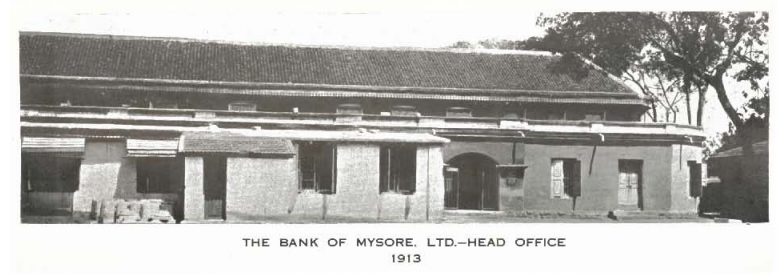 Mysore Bank Head Office 1913
