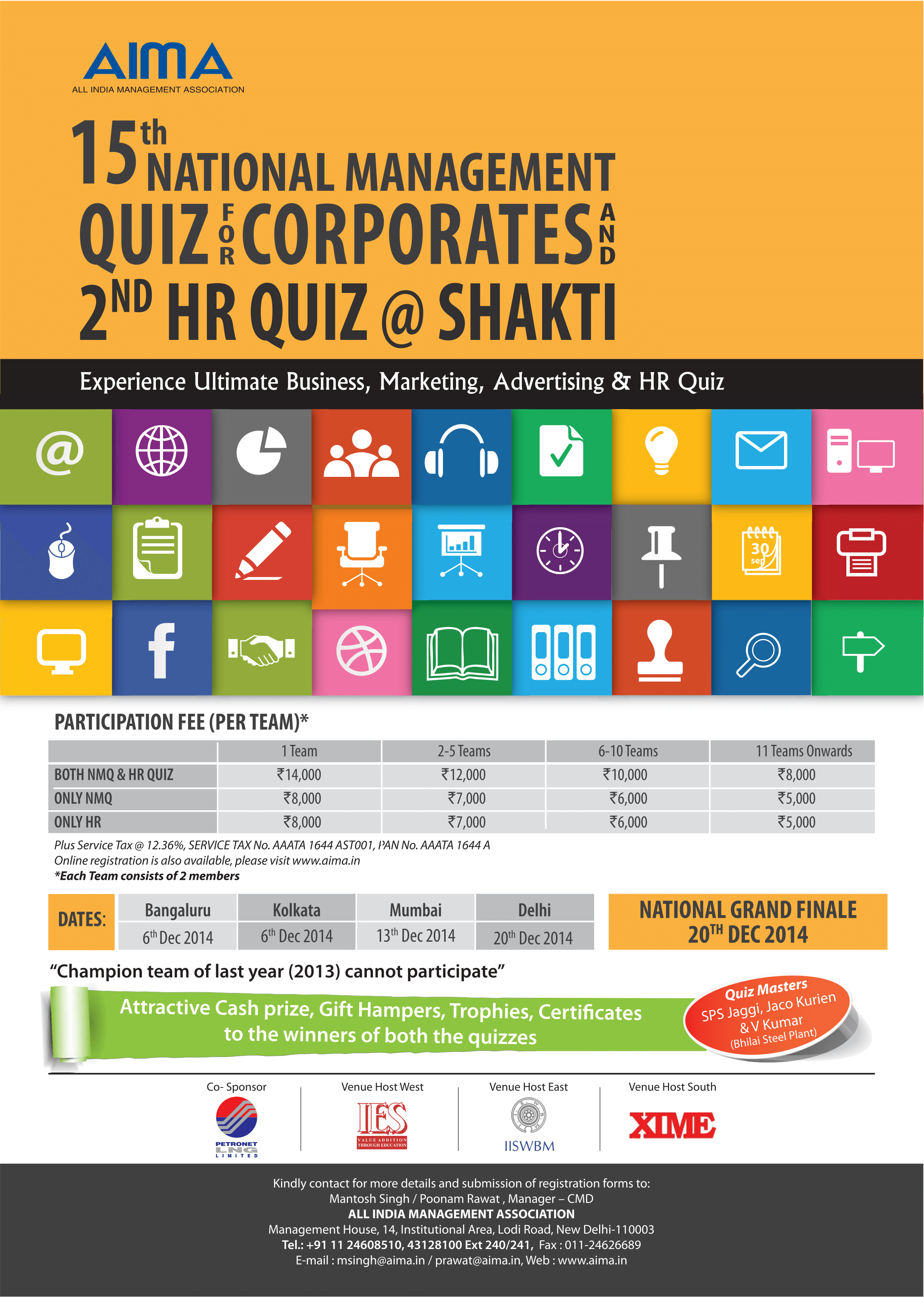 National Management Quiz (NMQ) AIMA 2014
