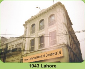 Oriental Bank of Commerce Lahore 1943