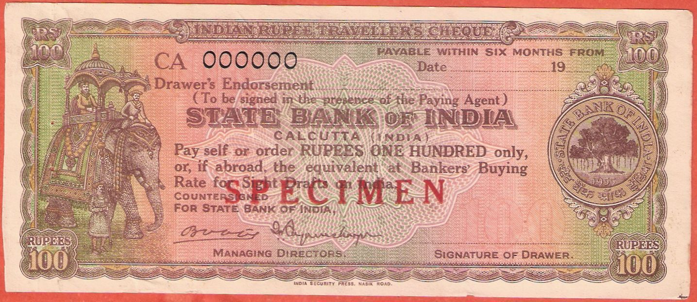 State Bank of India cheque