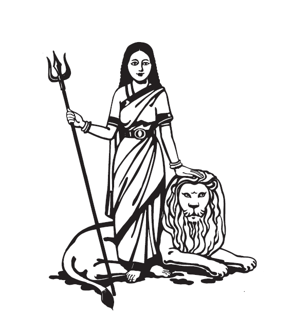 Bank of India logo -- center -- Goddess and lion